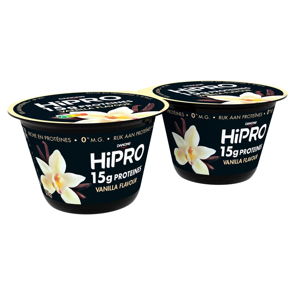 HiPRO en Pot Saveur Vanille avec 15 g de Protéines 2 x 160 g