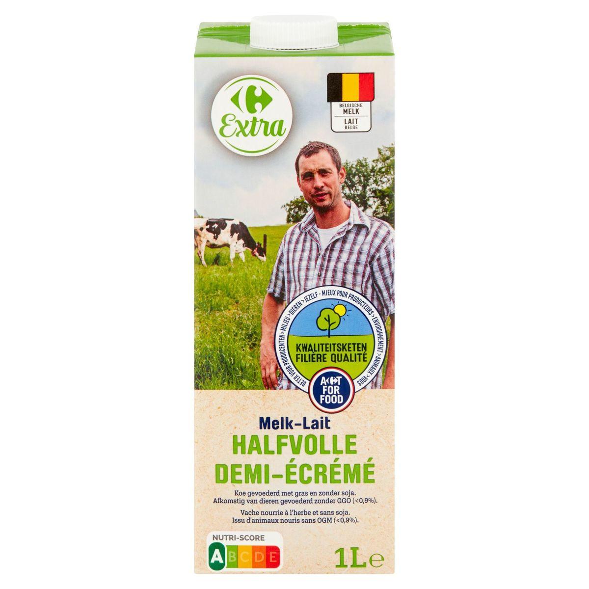 Carrefour Extra FQC Lait Demi-Écrémé 1 L