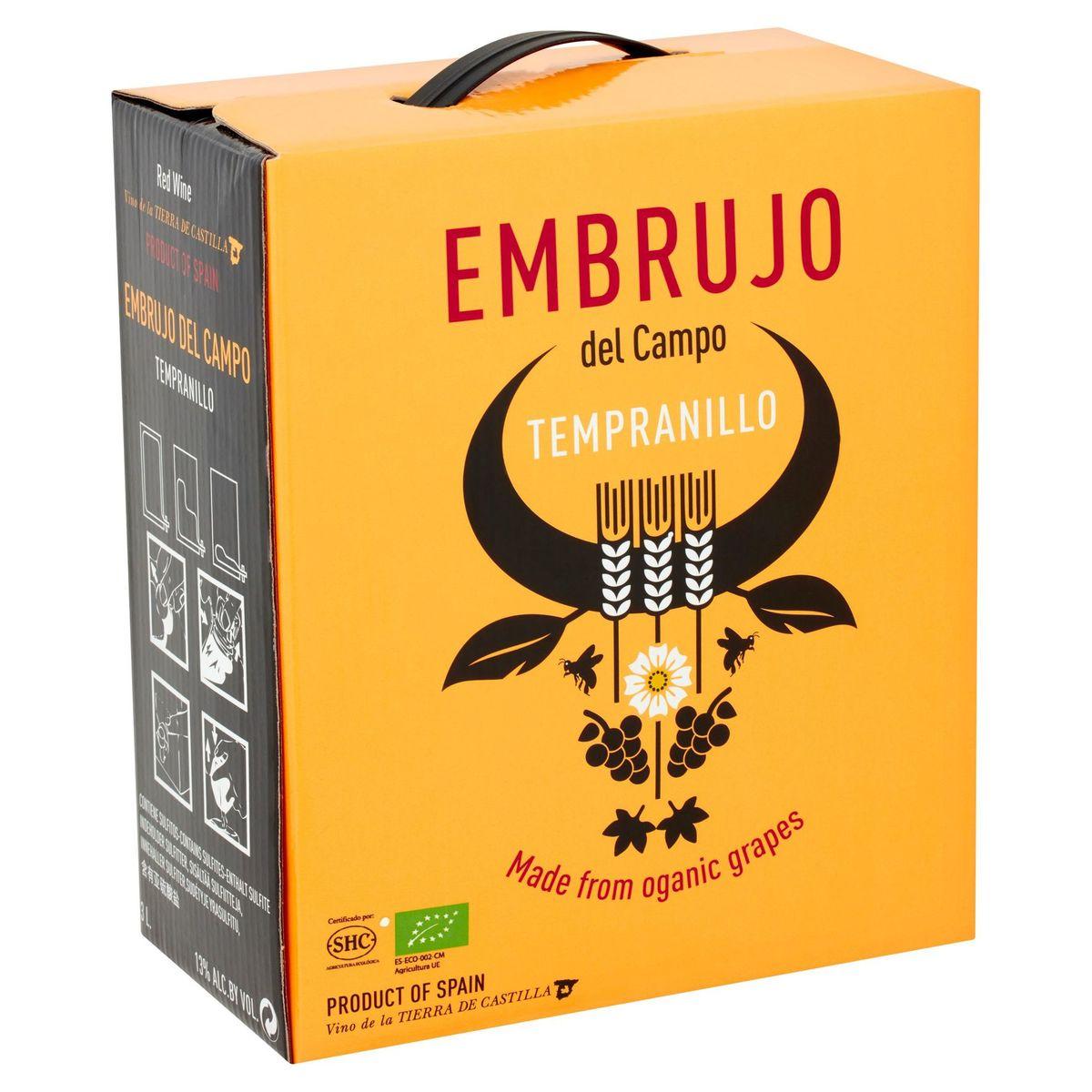 Espagne Tierra de Castilla Embruja del Campo Rouge Bio Cubitainer