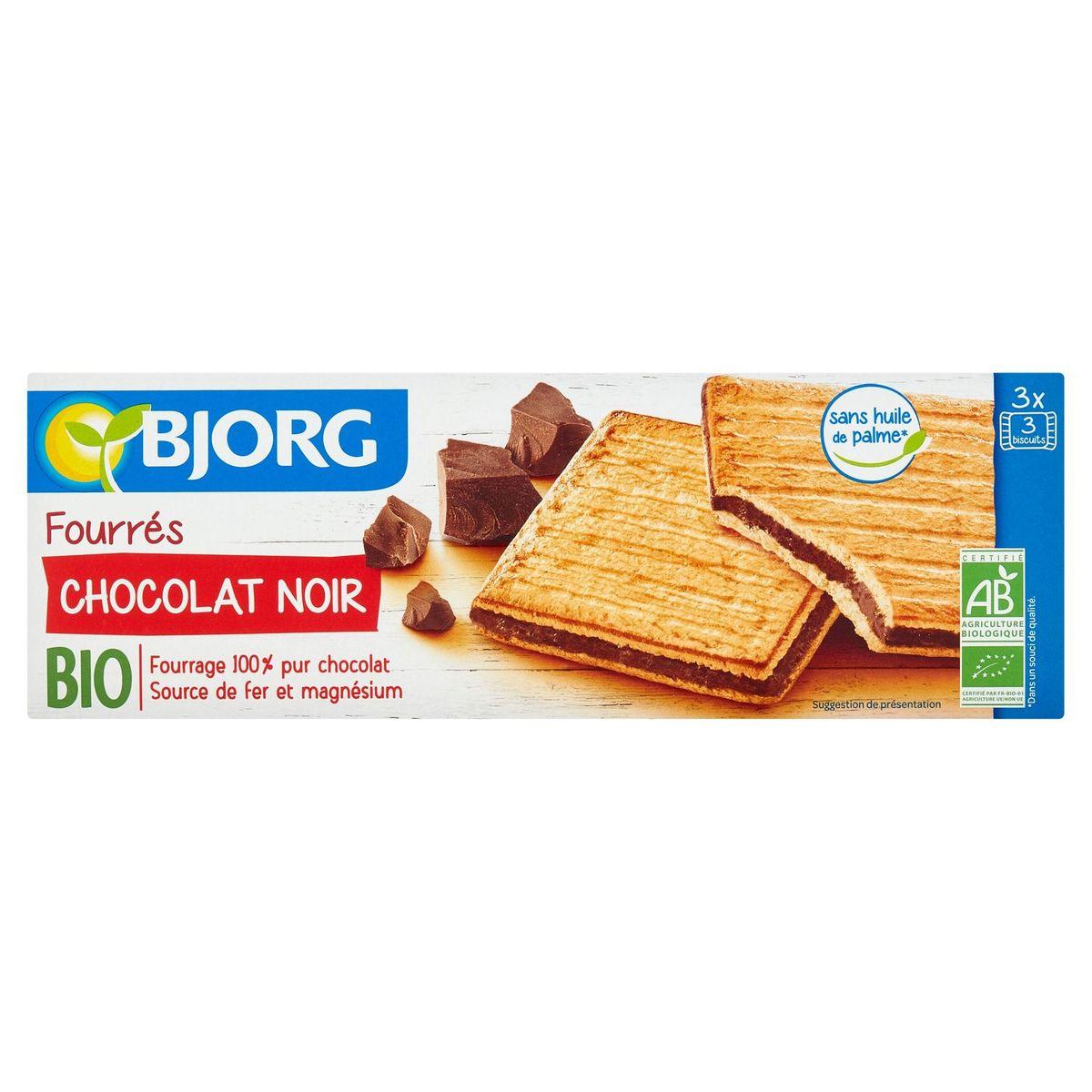 Bjorg Bio Fourrés Pure Chocolade 3 x 3 Biscuits 225 g