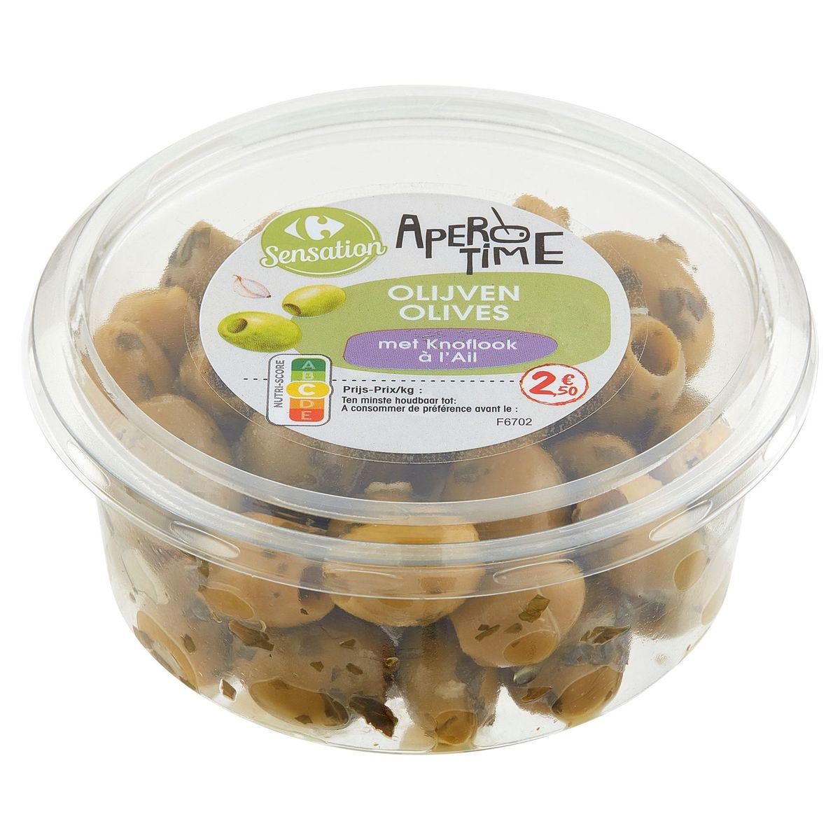 Carrefour Apero Time Olives à l'Ail 150 g