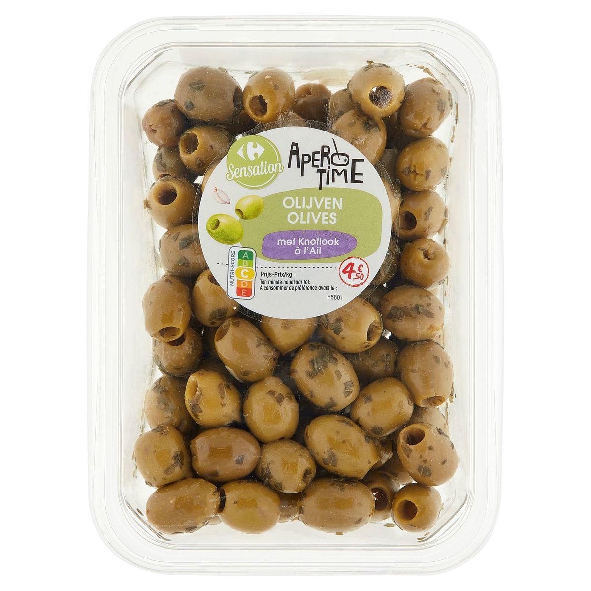 Carrefour Apero Time Olives à l'Ail 400 g