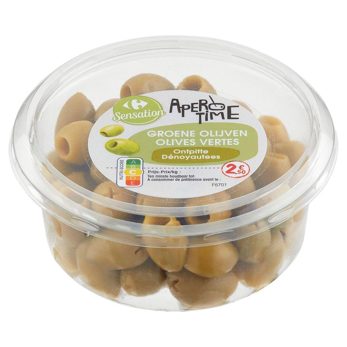 Carrefour Apero Time Olives Vertes Dénoyautées 150 g