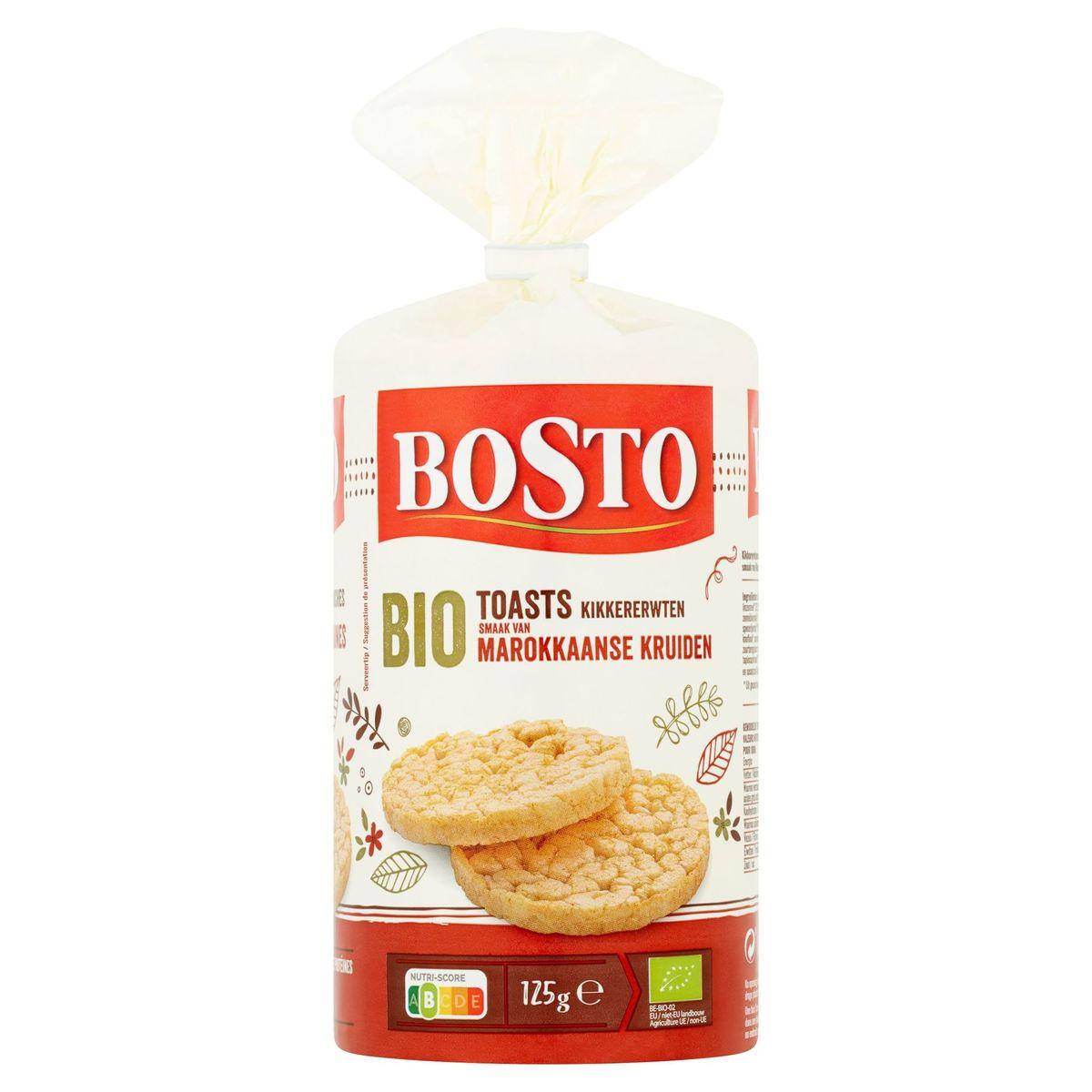 Bosto Bio Toasts Pois Chiches Goût d' Épices Marocaines 125 g