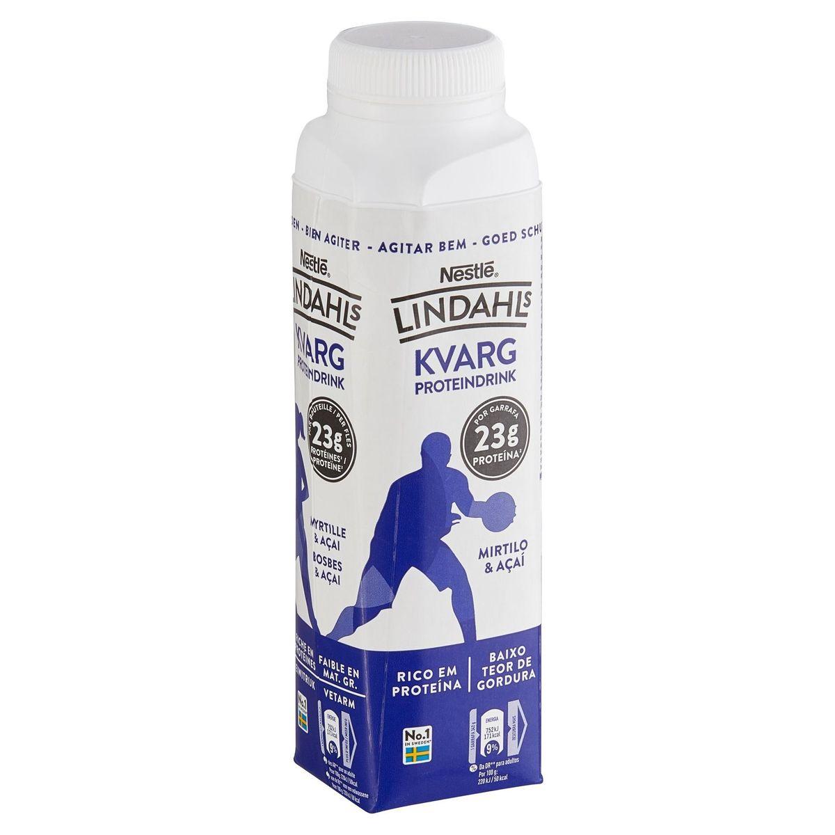 Lindahls Kvarg Proteindrink Myrtille & Açai 342 g