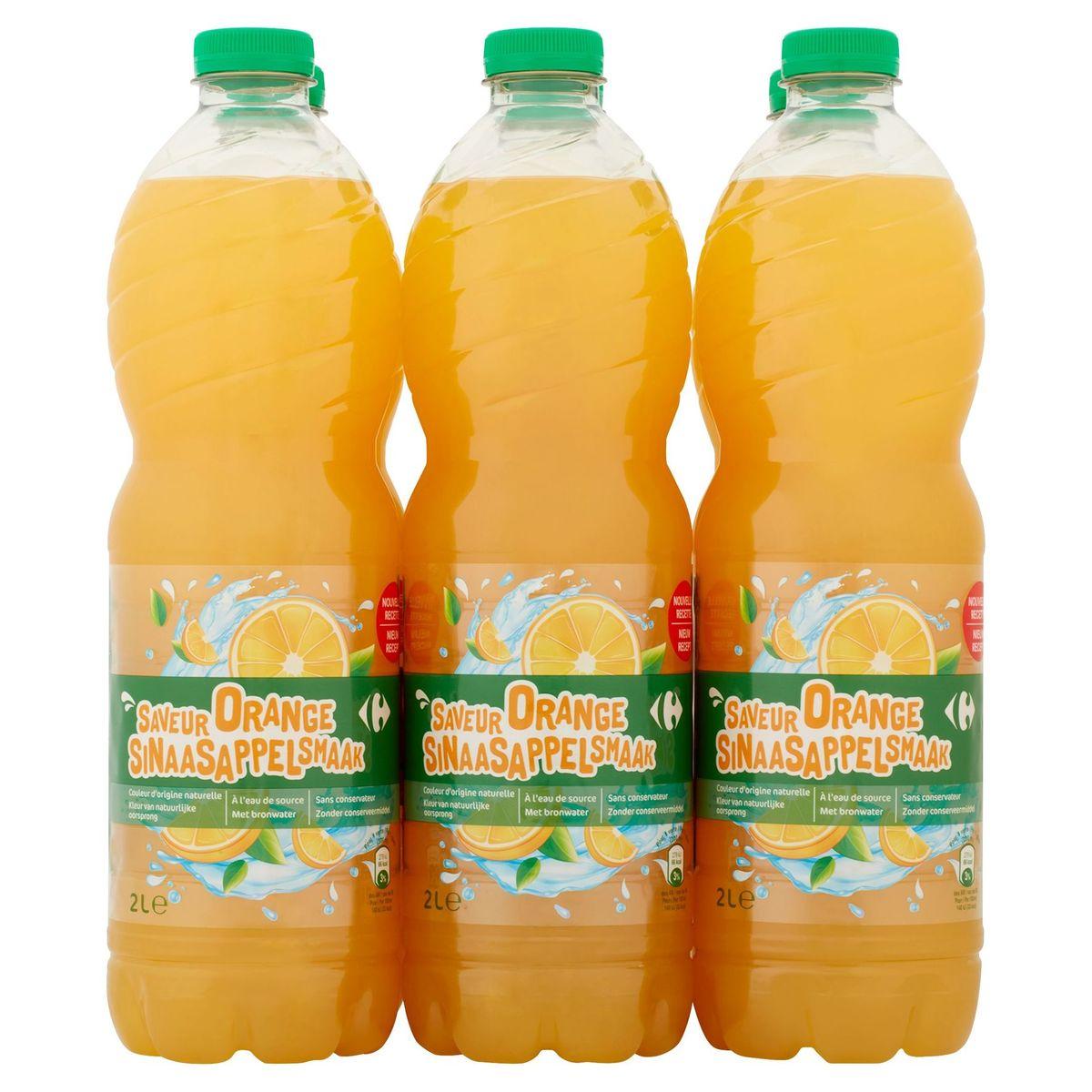 Carrefour Sinaasappelsmaak 6 x 2 L