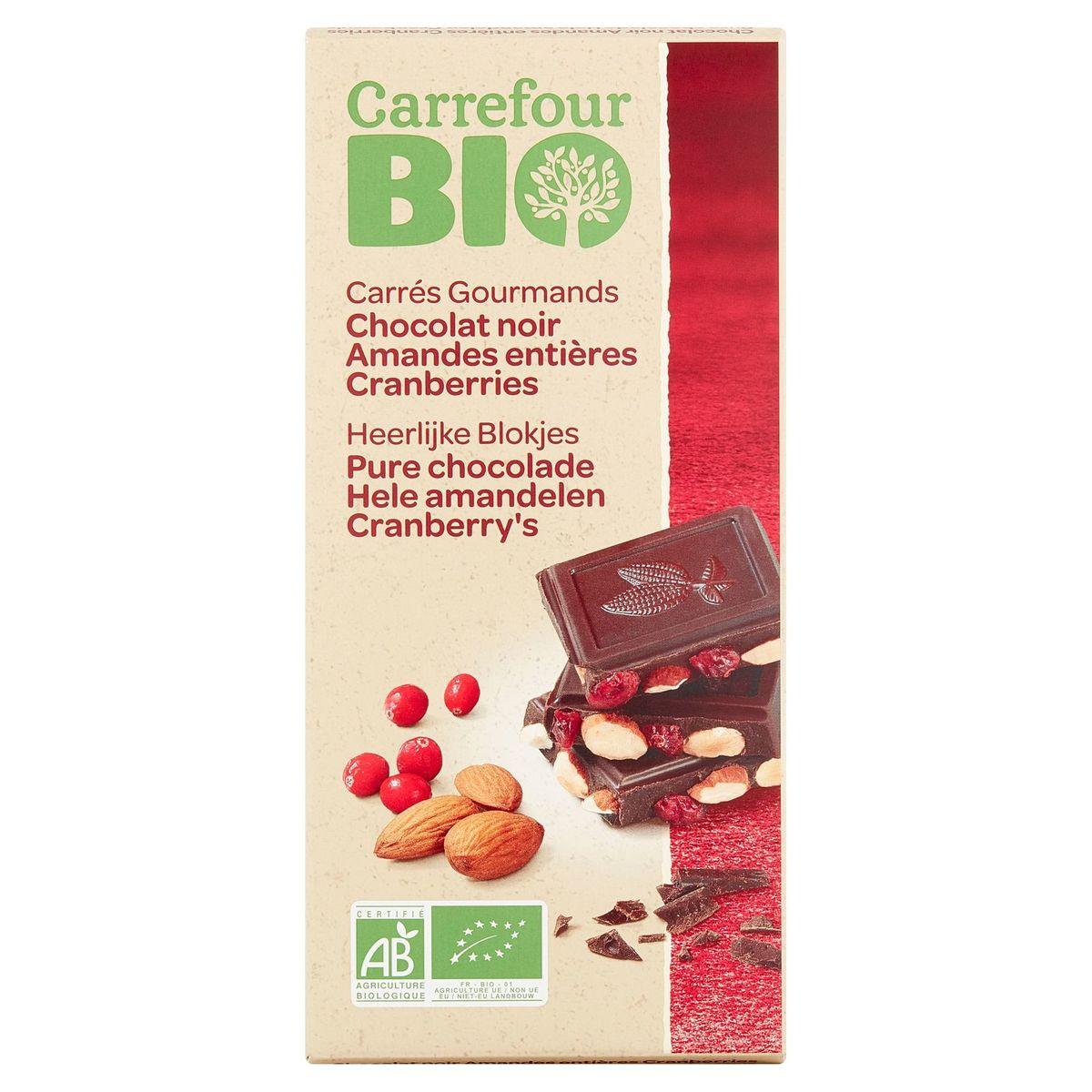 Carrefour Bio Chocolat Noir Amandes Entières Cranberries 200 g