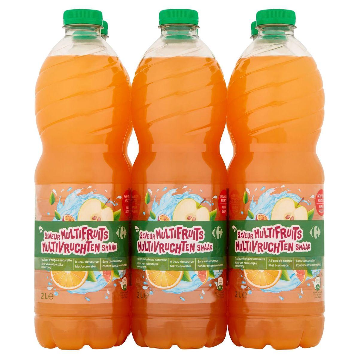 Carrefour Multivruchten Smaak 6 x 2 L