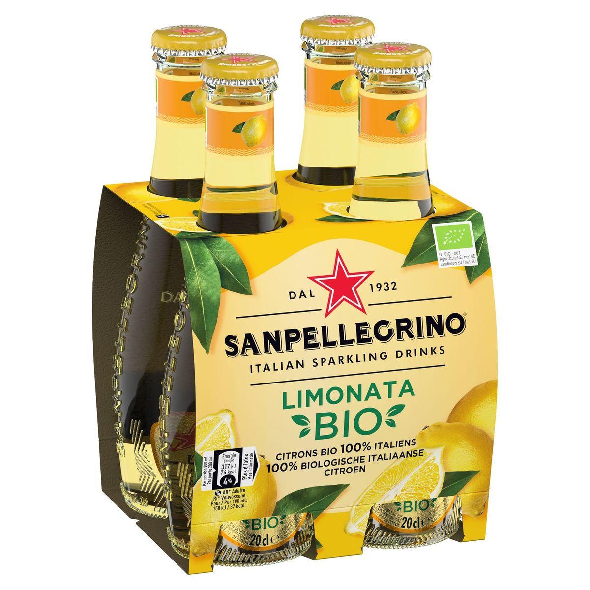 SANPELLEGRINO® Limonata Bio 4 x 0.20 L