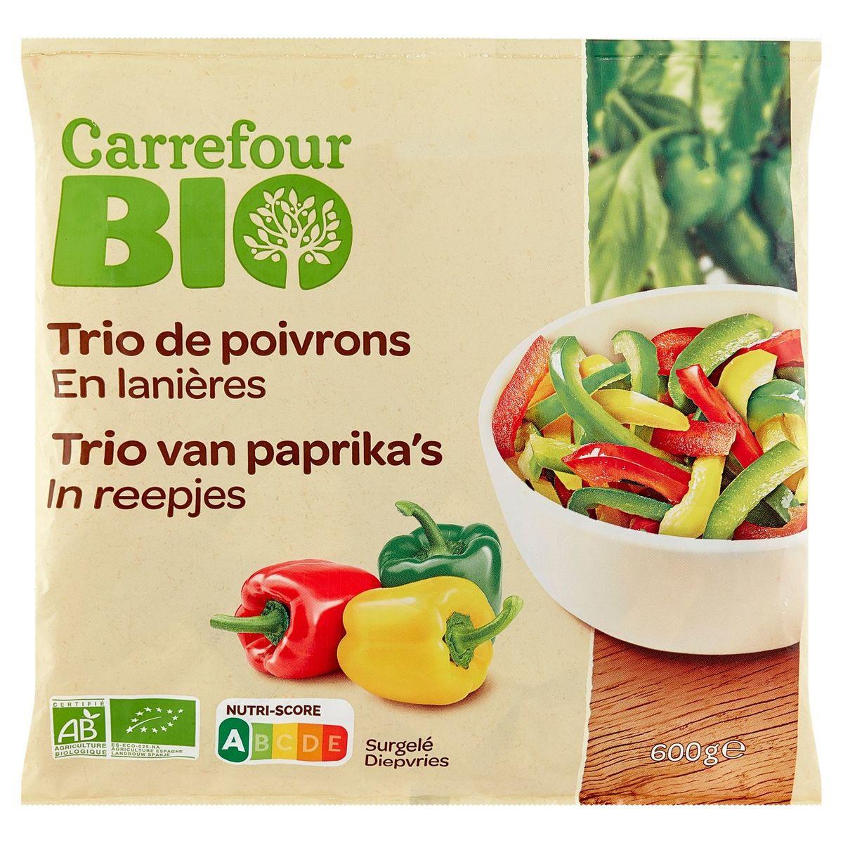Carrefour Bio Trio van Paprika's in Reepjes 600 g