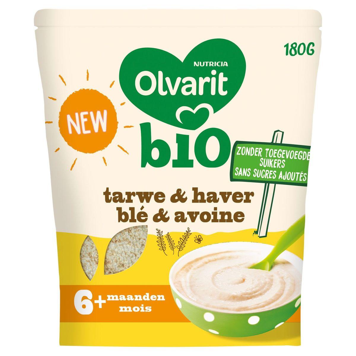 Olvarit Bio Granen Voor Baby's Vanaf 6 Maanden Tarwe En Haver 180g