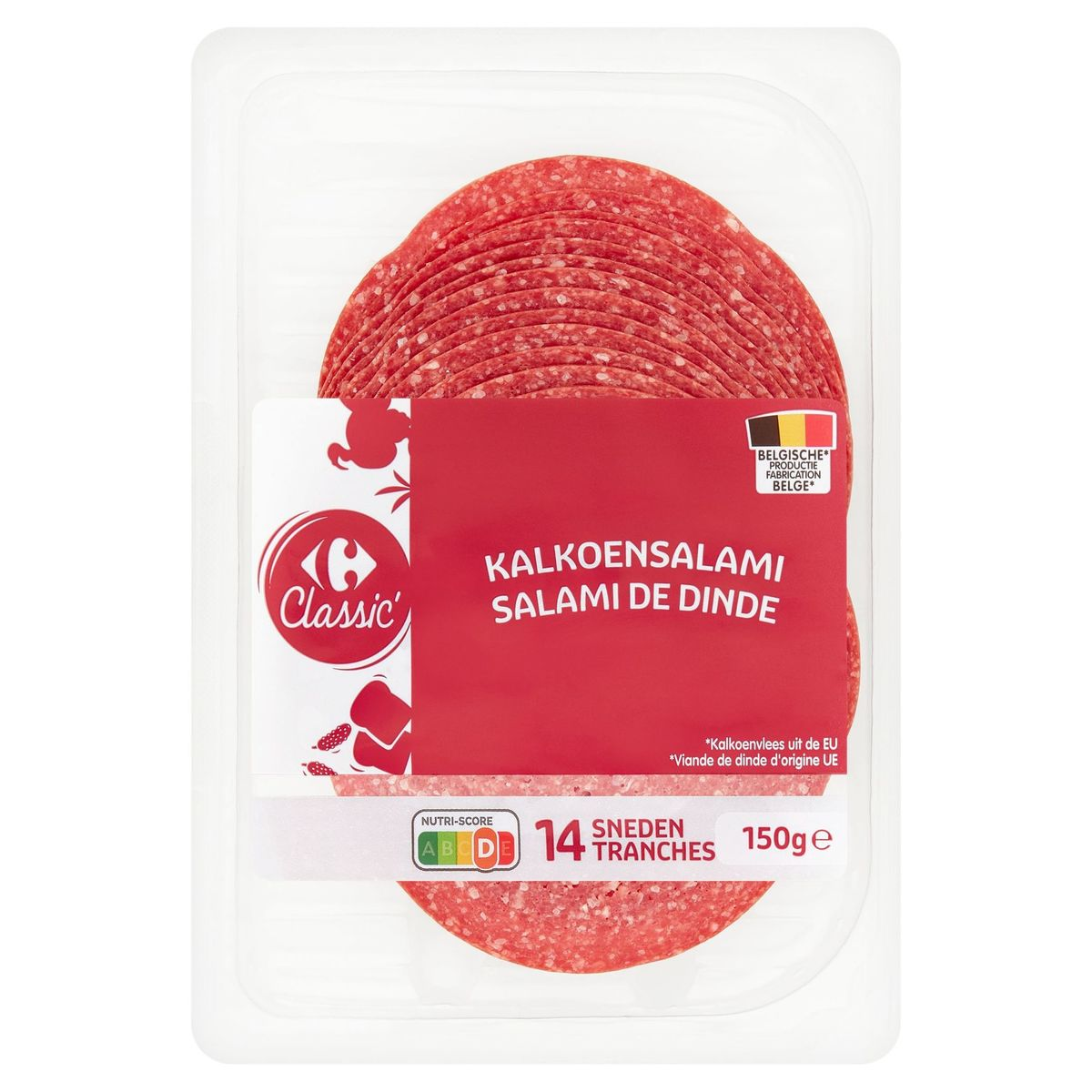 Carrefour Classic' Salami de Dinde 14 Tranches 150 g