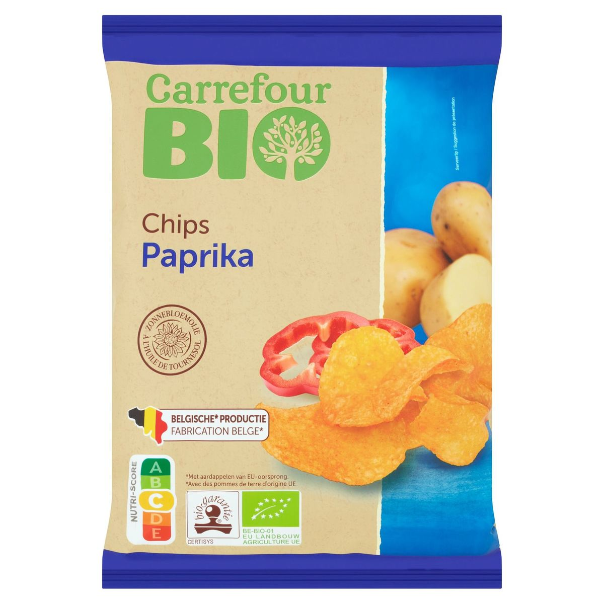 Carrefour Bio Chips Paprika 125 g