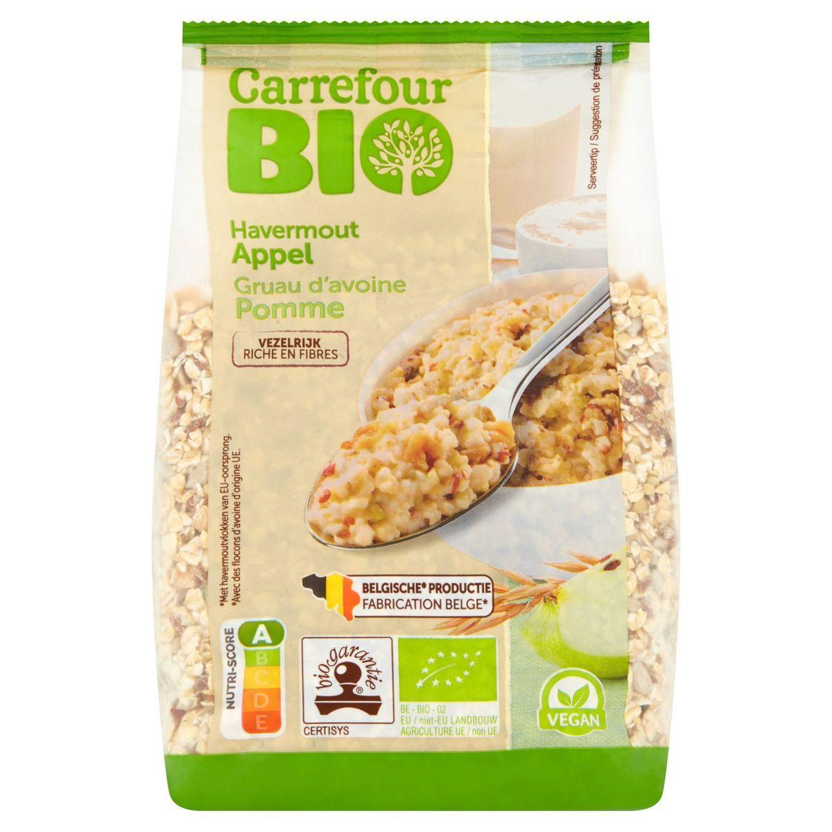 Carrefour Bio Gruau d'Avoine Pomme 400 g