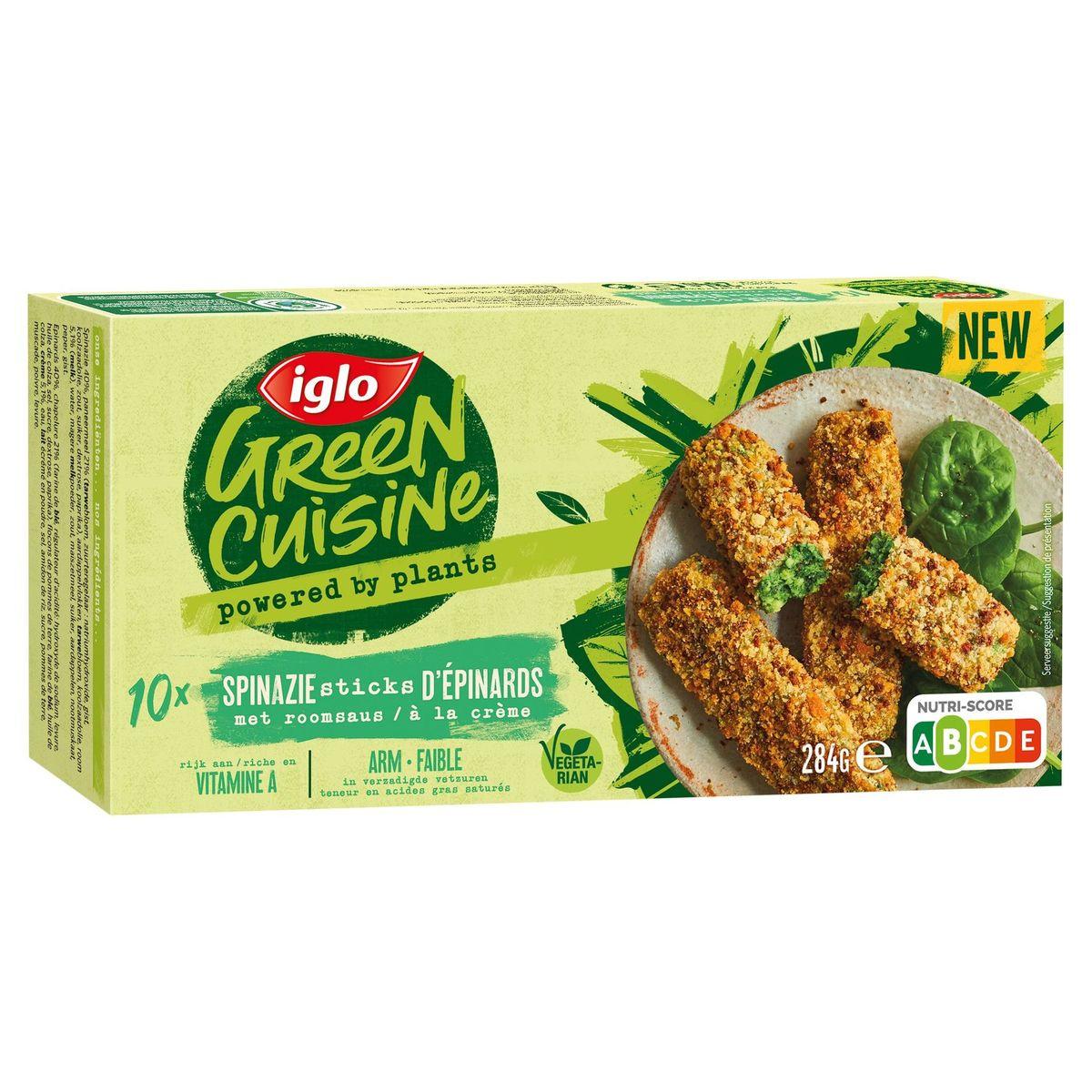 Iglo Green Cuisine spinazie sticks met room 284g