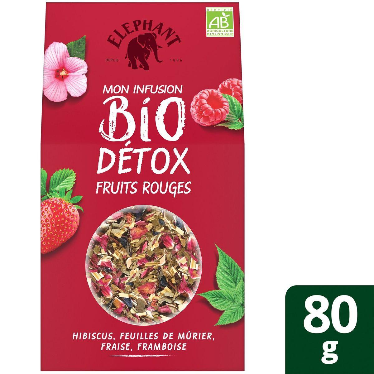 Elephant Thé en vrac Detox Fruits Rouges 80g