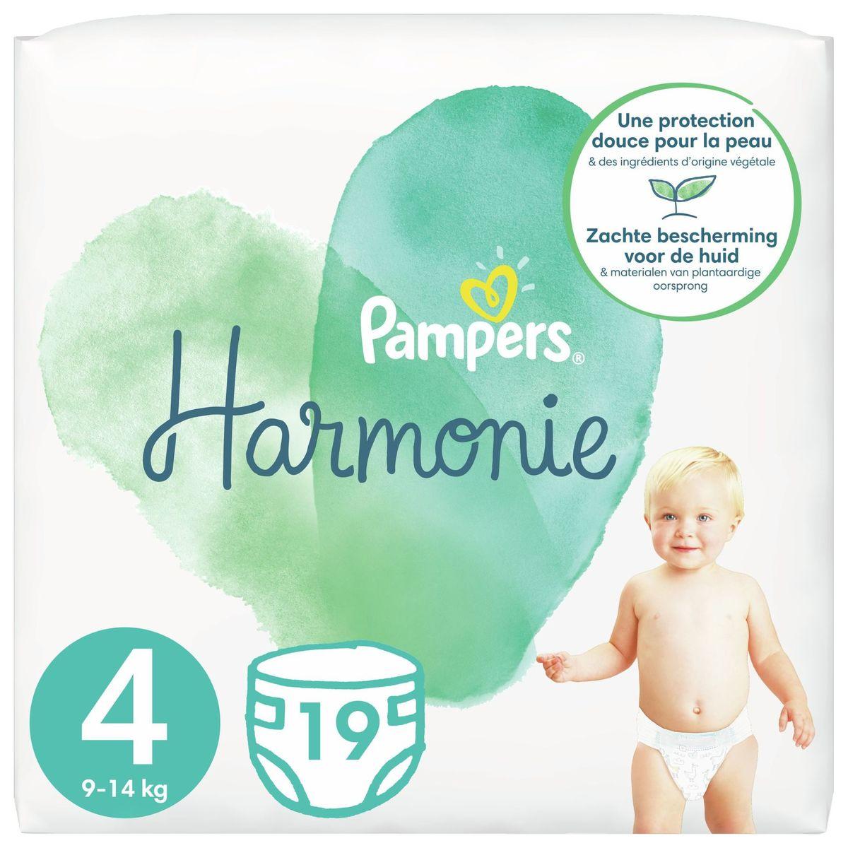 Pampers Harmonie Maat 4, 19 Luiers, 9kg-14kg