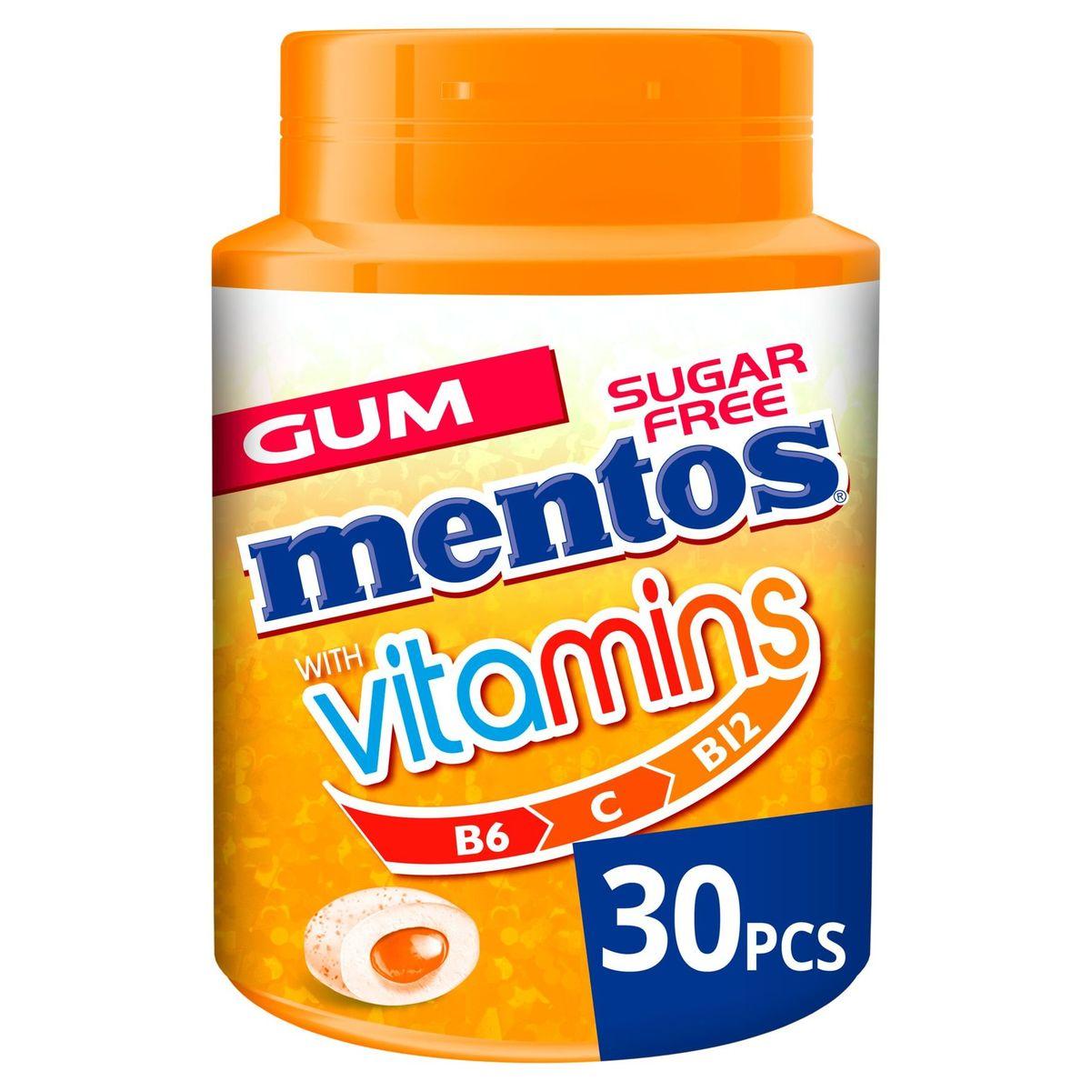 Mentos Chewing Gum with Vitamins Citrus Blend 30 Stuks 60 g