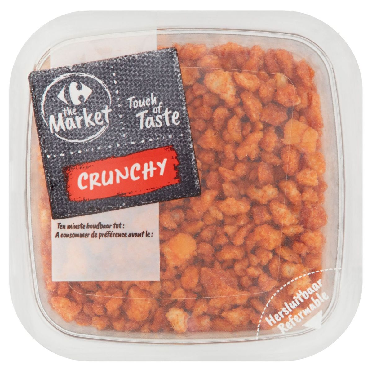 Carrefour The Market Touch of Taste Crunchy Mix Saveur Bacon 80 g