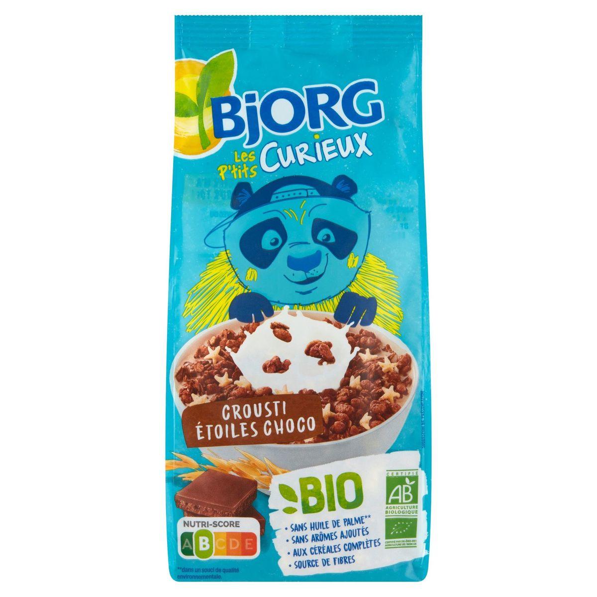 Bjorg Les P'tits Curieux Crousti Étoiles Choco Bio 375 g