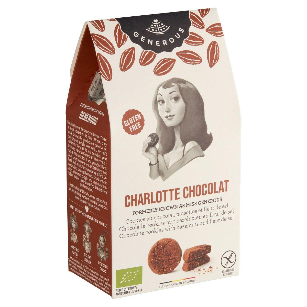 Generous Charlotte Cookies au Chocolat, Noisettes et Fleur de Sel 120g