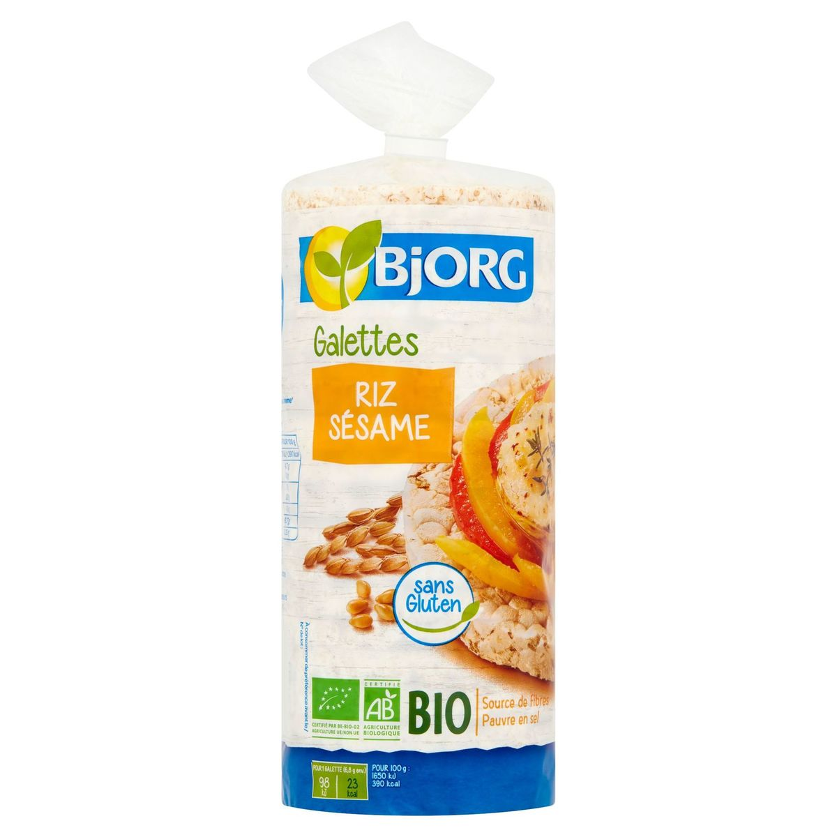 Bjorg Galettes Riz Sésame Bio 130 g