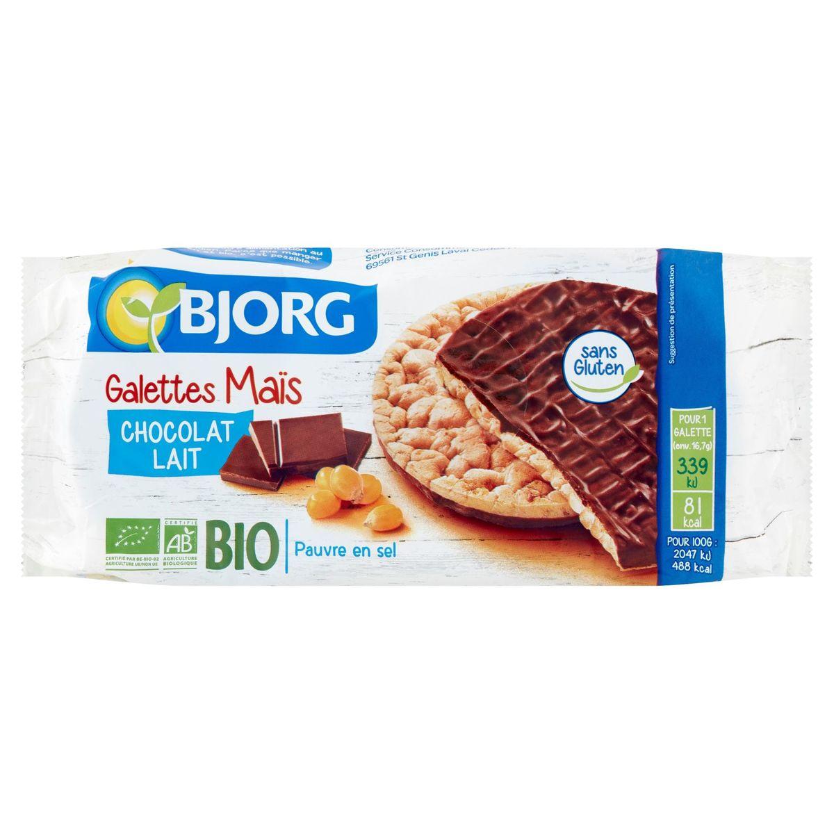 Bjorg Galettes Maïs Chocolat Lait 100 g