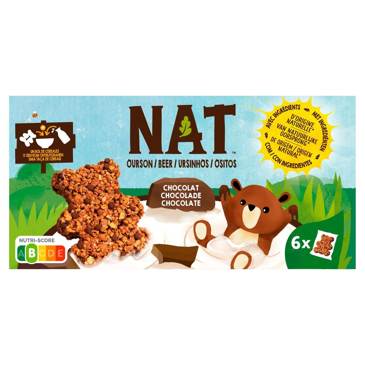 NAT Beer Chocolade 6 x 32 g