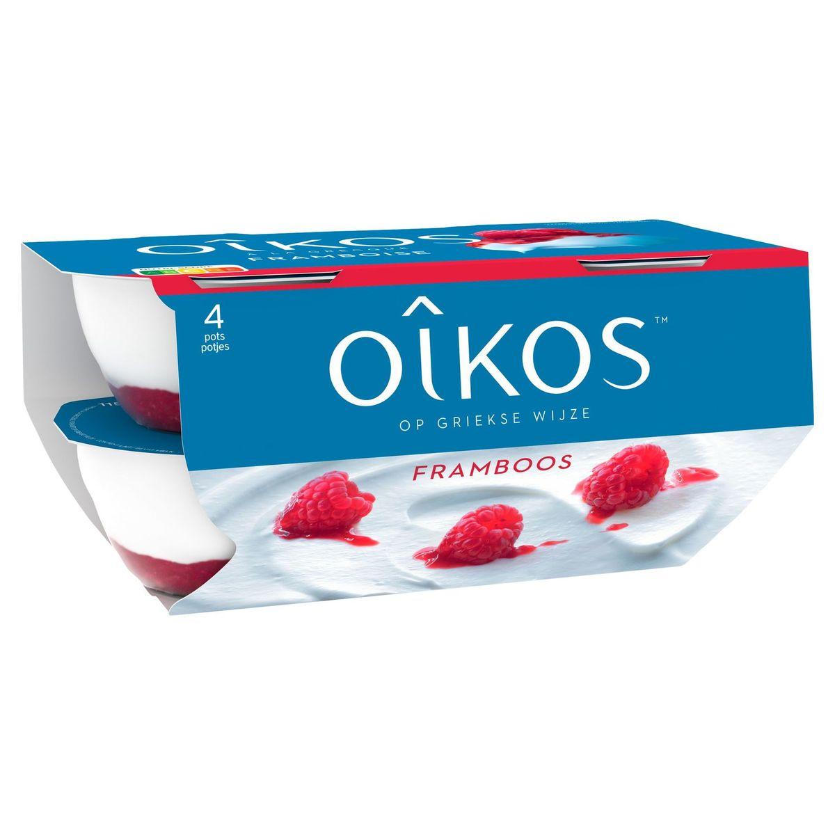 Oikos Yaourt à la Grecque Framboise 4 x 115 g