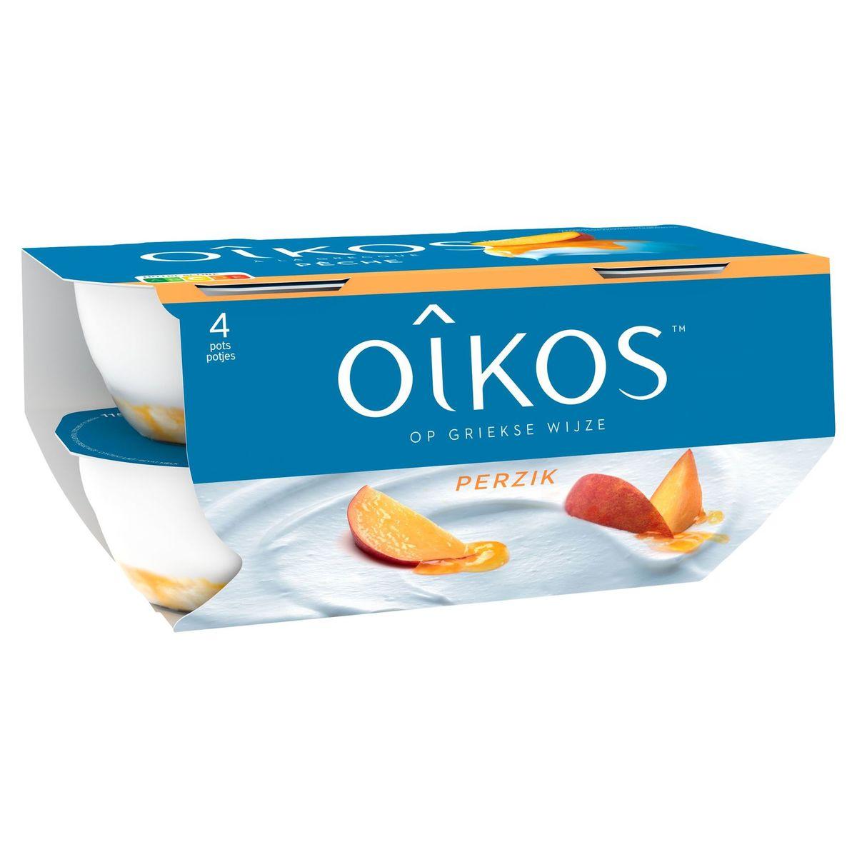 Oikos Yaourt à la Grecque Pêche 4 x 115 g