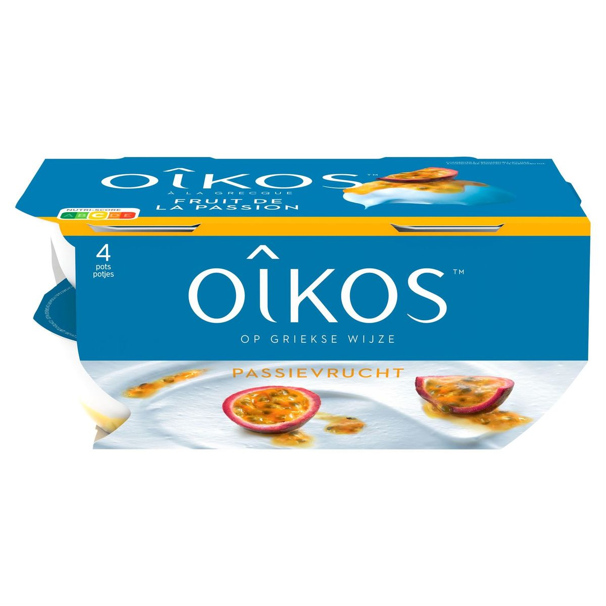 Oikos Yaourt à la Grecque Fruit Passion 4 x 115 g