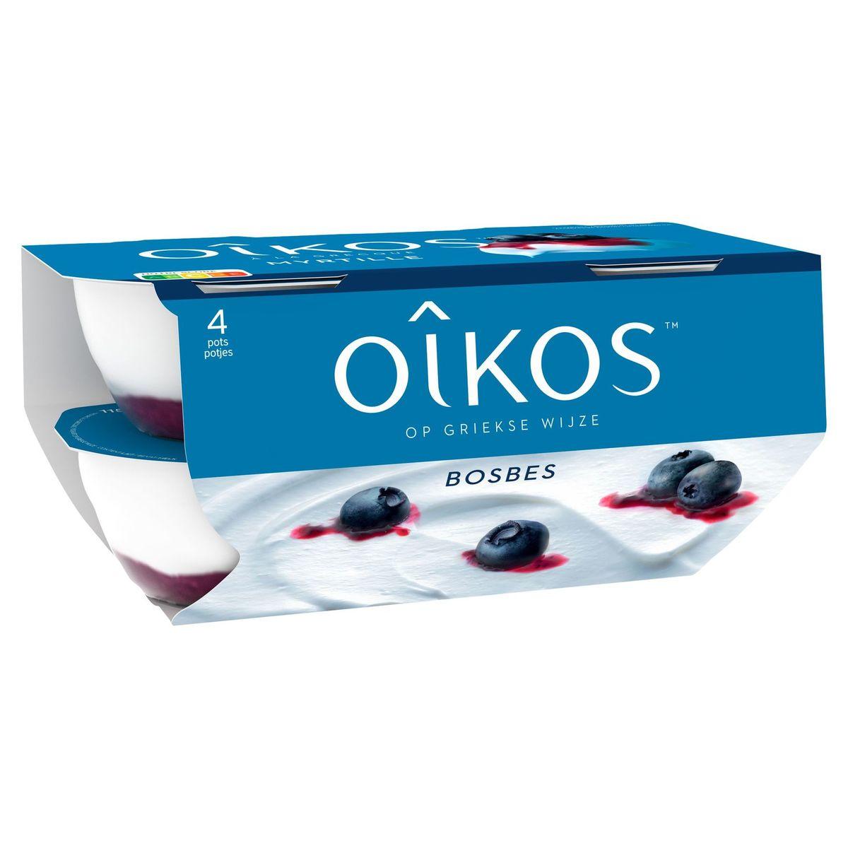 Oikos Yaourt à la Grecque Myrtille 4 x 115 g