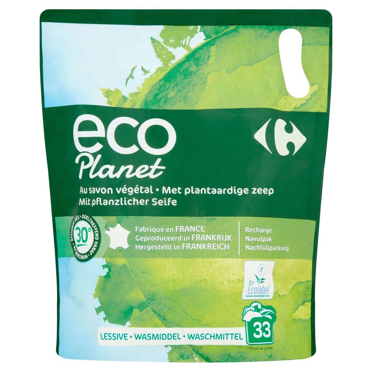 Carrefour Eco Planet Navulpak Wasmiddel 1.5 L 33 Wasbeurten
