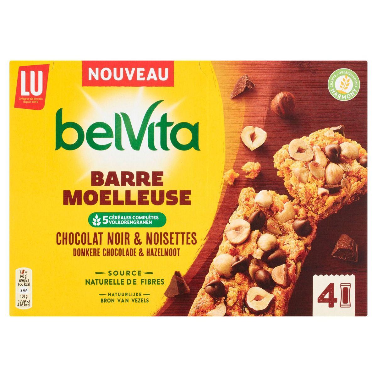 LU BelVita Barre Moelleuse Chocolat Noir & Noisettes 160 g
