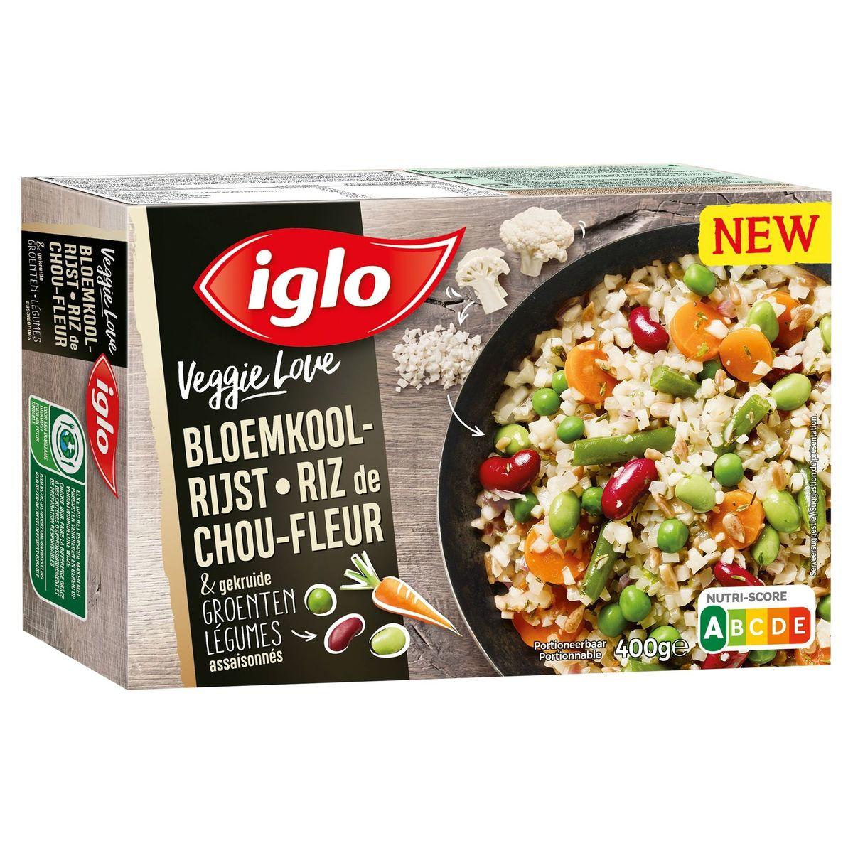 Iglo Veggie Love Riz de Chou-Fleur & Légumes Assaisonnés 400 g