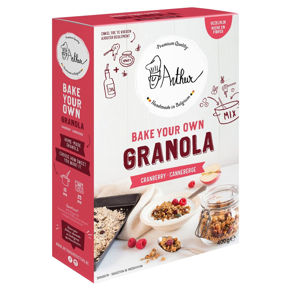 Arthur & The Sisters Bake Your Own Granola bakmix