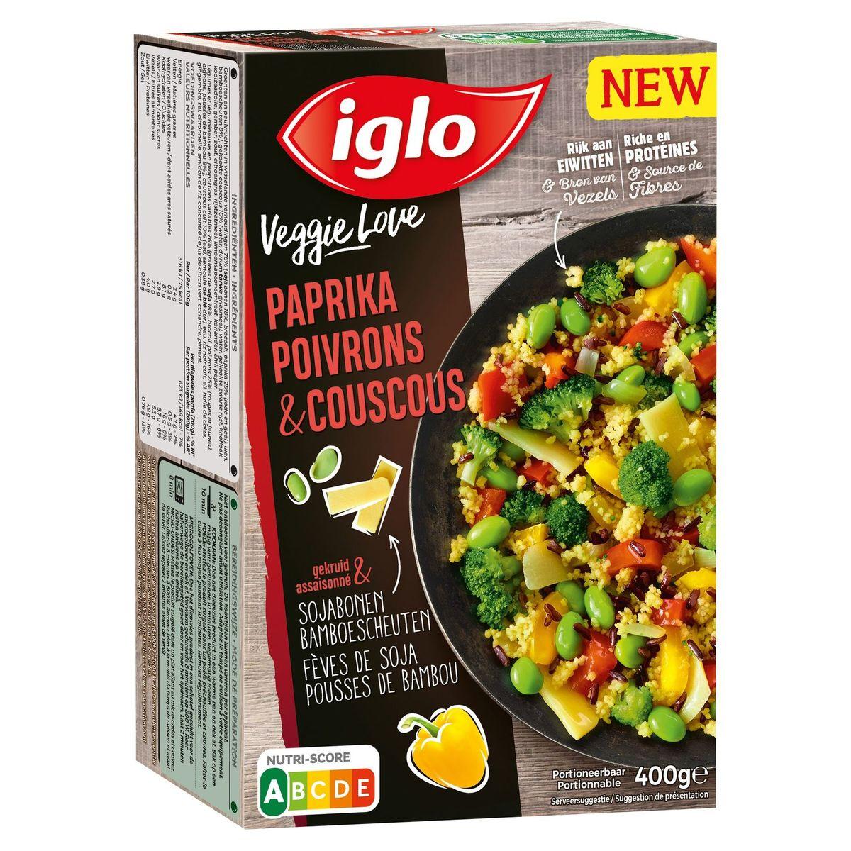 Iglo Veggie Paprika Couscous Sojabonen Bamboescheuten 400 g