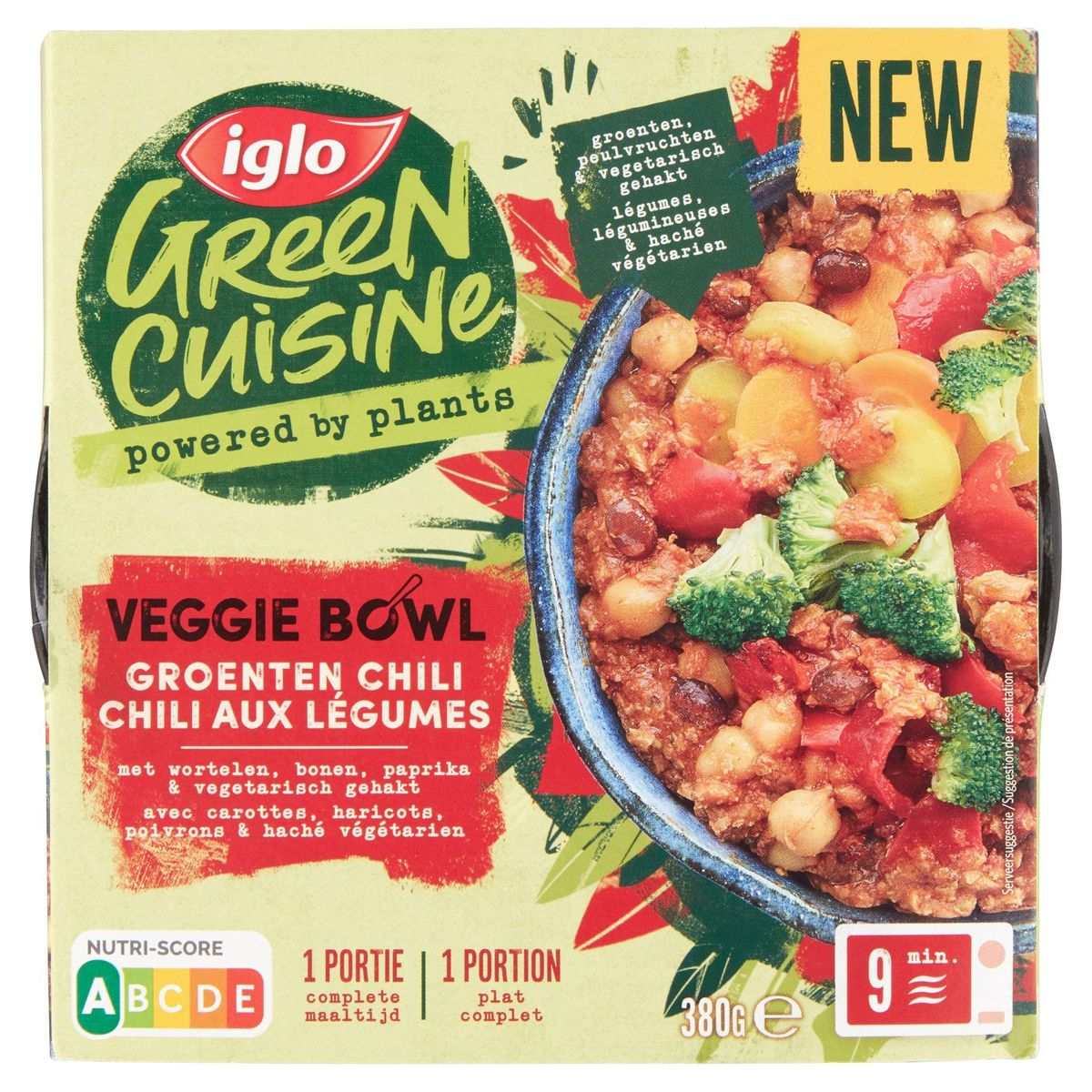 Iglo Green Cuisine Veggie Bowl Chili aux Légumes 380 g