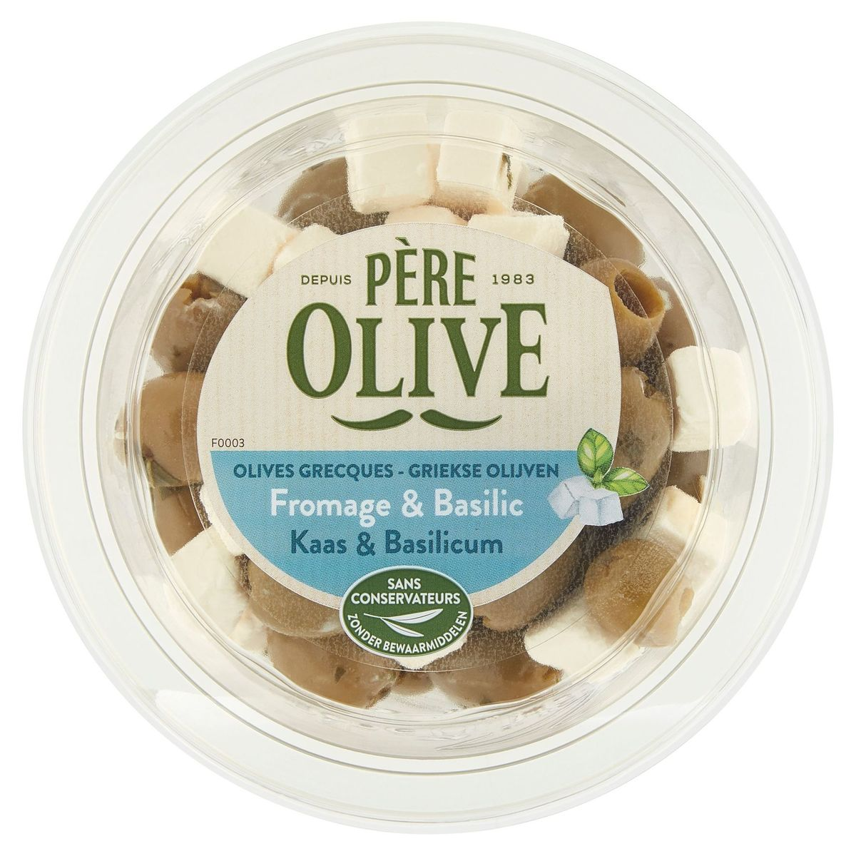 Père Olive Fromage & Basilic 150 g