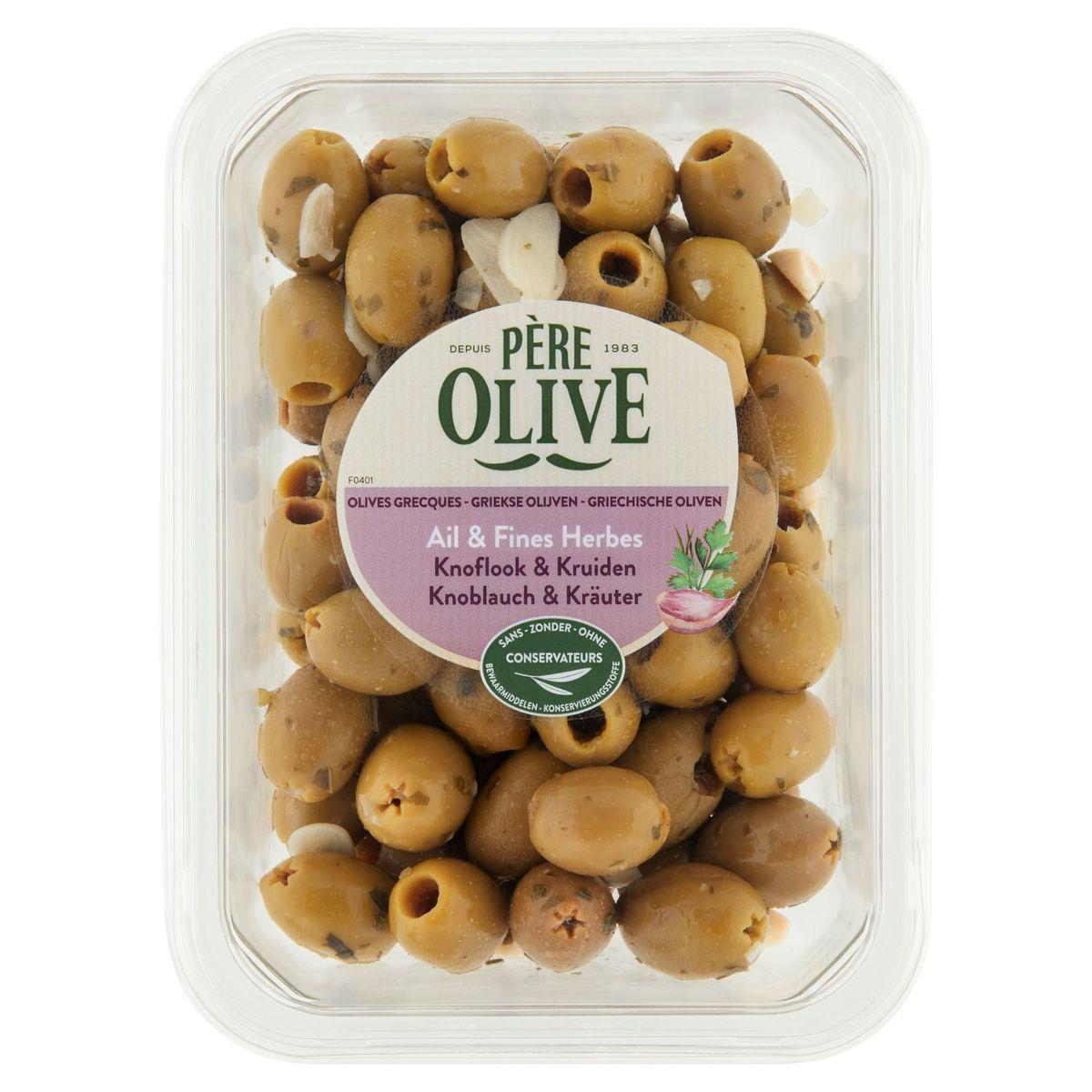 Père Olive Olives Grecques Ail & Fines Herbes 400 g
