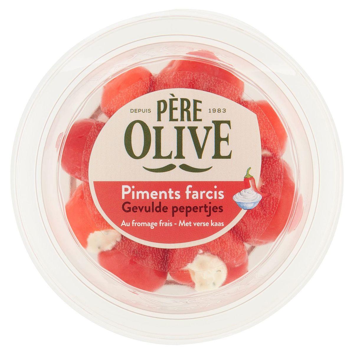 Père Olive Piments Farcis au Fromage Frais 110 g