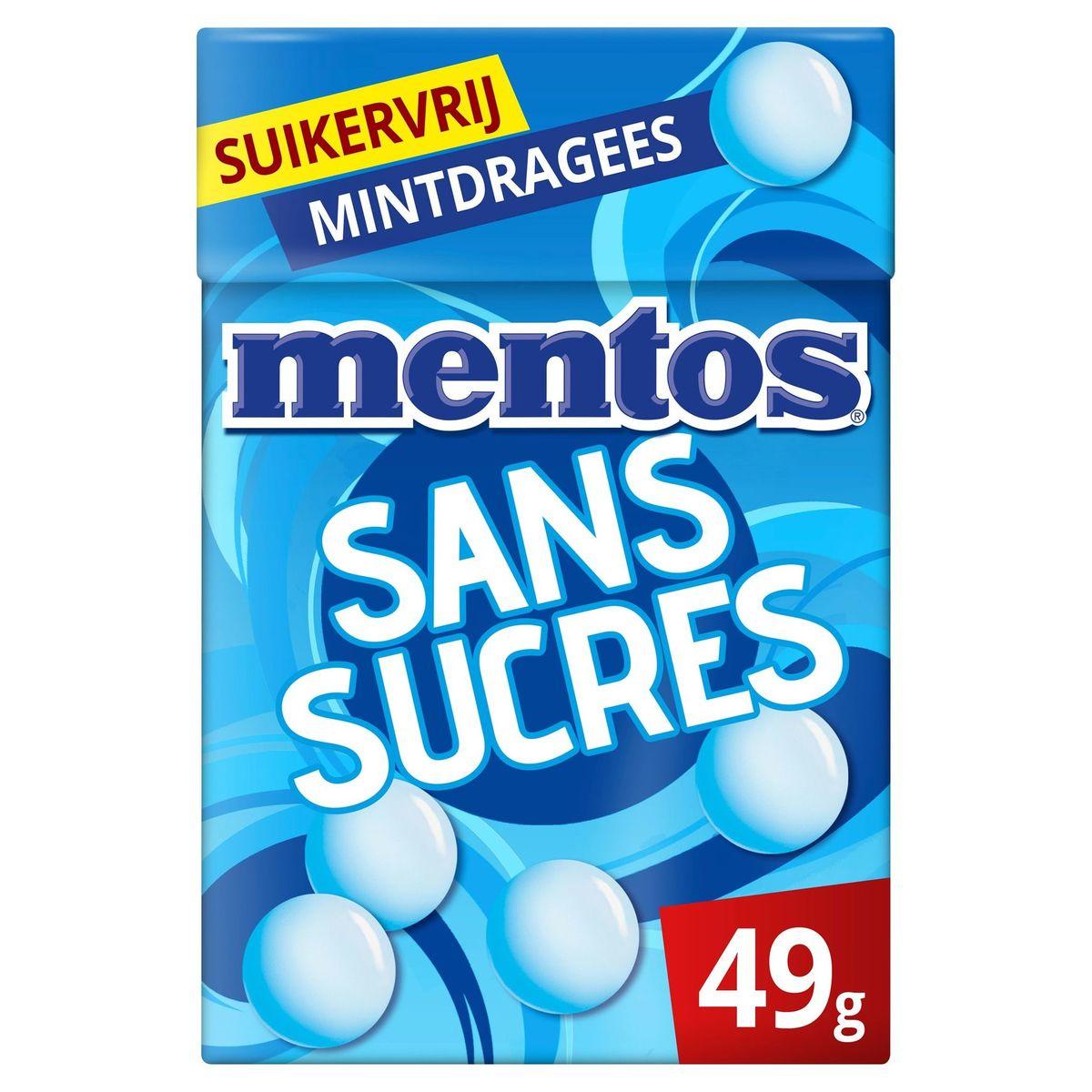 Mentos Bonbons Tendres Dragéifiés Sans Sucres Goût Menthe 49.5 g