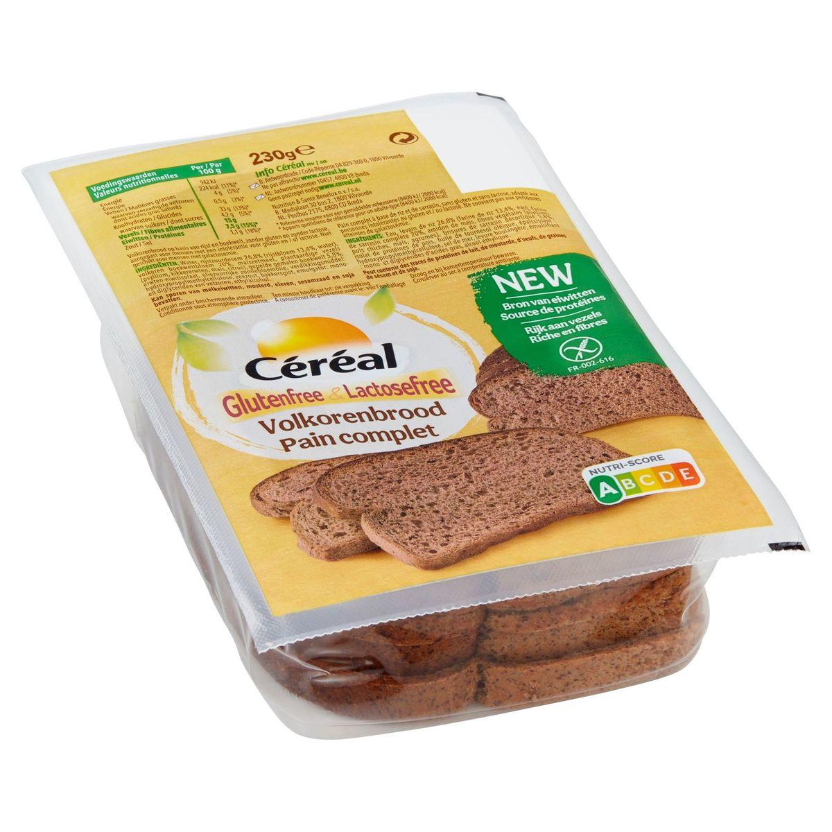 Céréal Glutenfree & Lactosefree Volkorenbrood 230 g