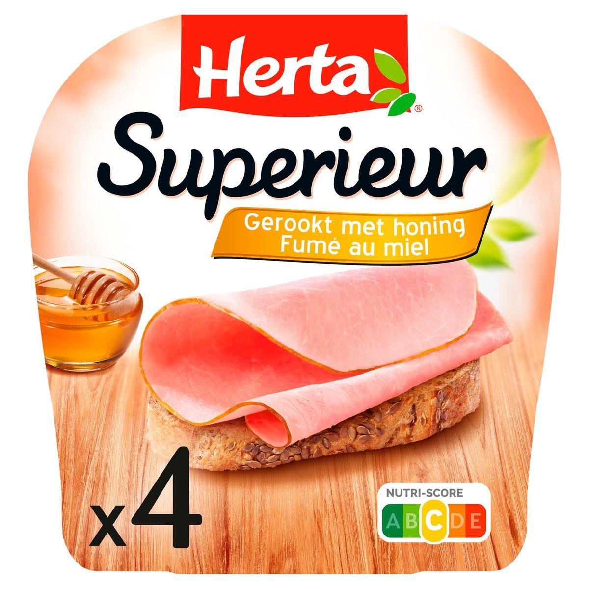 Herta Superieur Fumé au Miel 4 Tranches 133 g