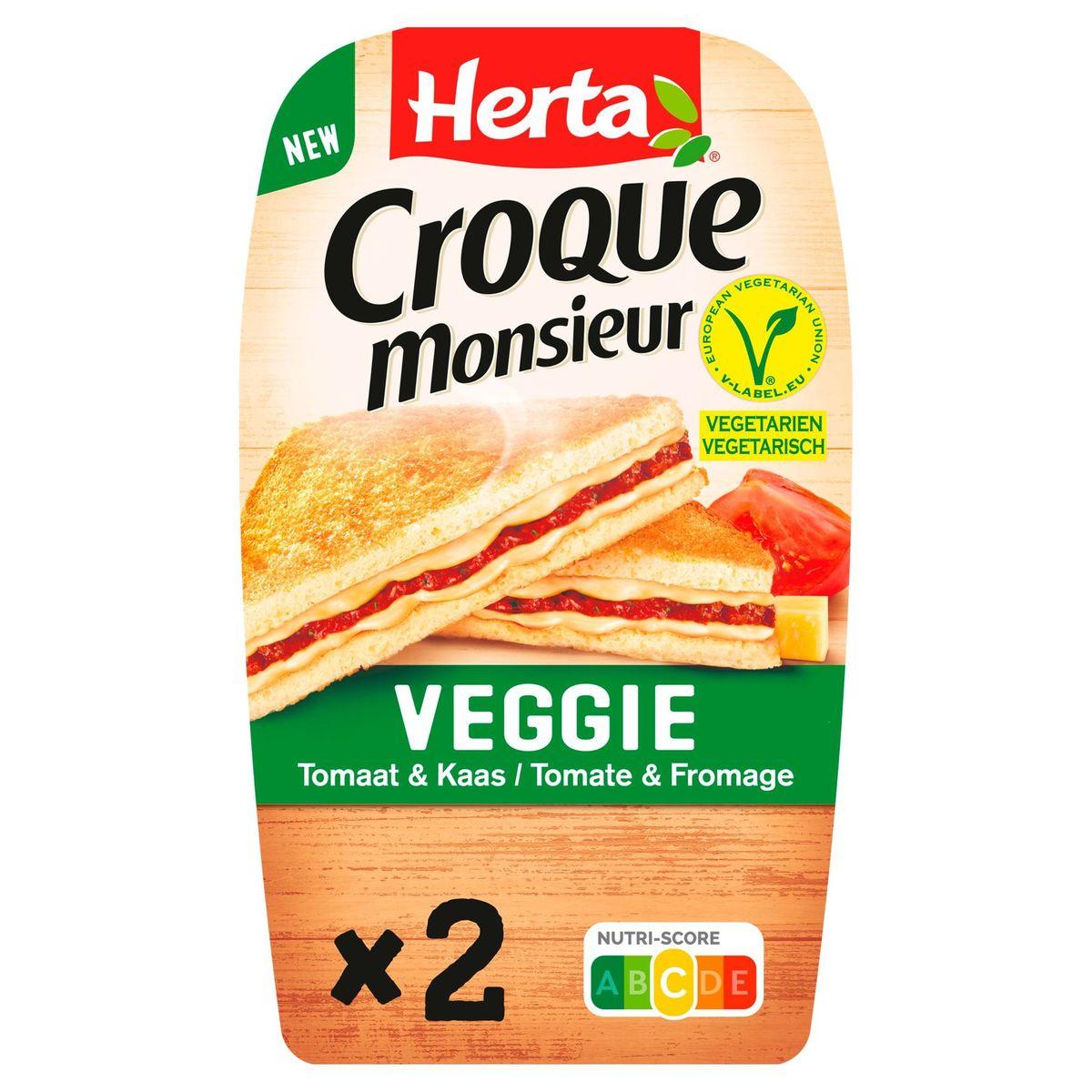 Herta Croque Monsieur Veggie Tomate & Fromage 2 Pièces 200 g
