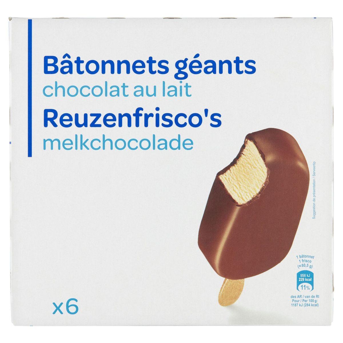 Reuzenfrisco's Melkchocolade 6 Stuks 483 g
