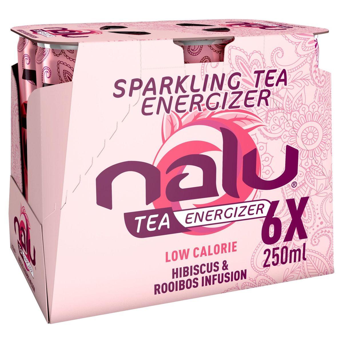Nalu Tea Hibiscus & Rooibos Infusion Canette 6 x 250 ml