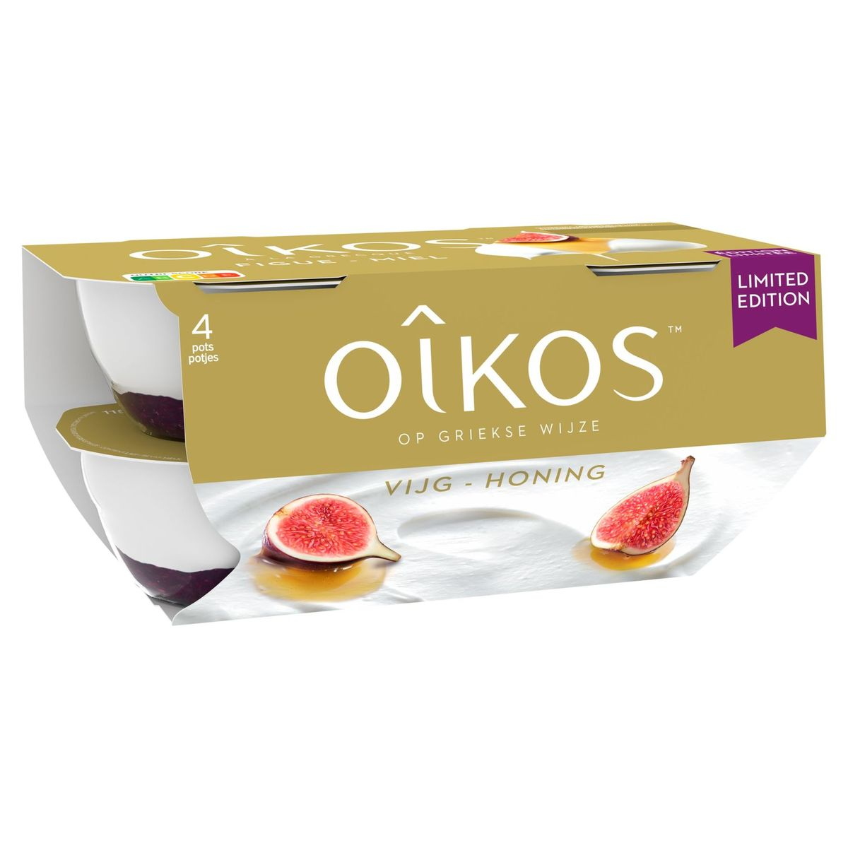 Oikos Yaourt à la Grecque Figue et Miel Édition Limitée 4 x 115 g
