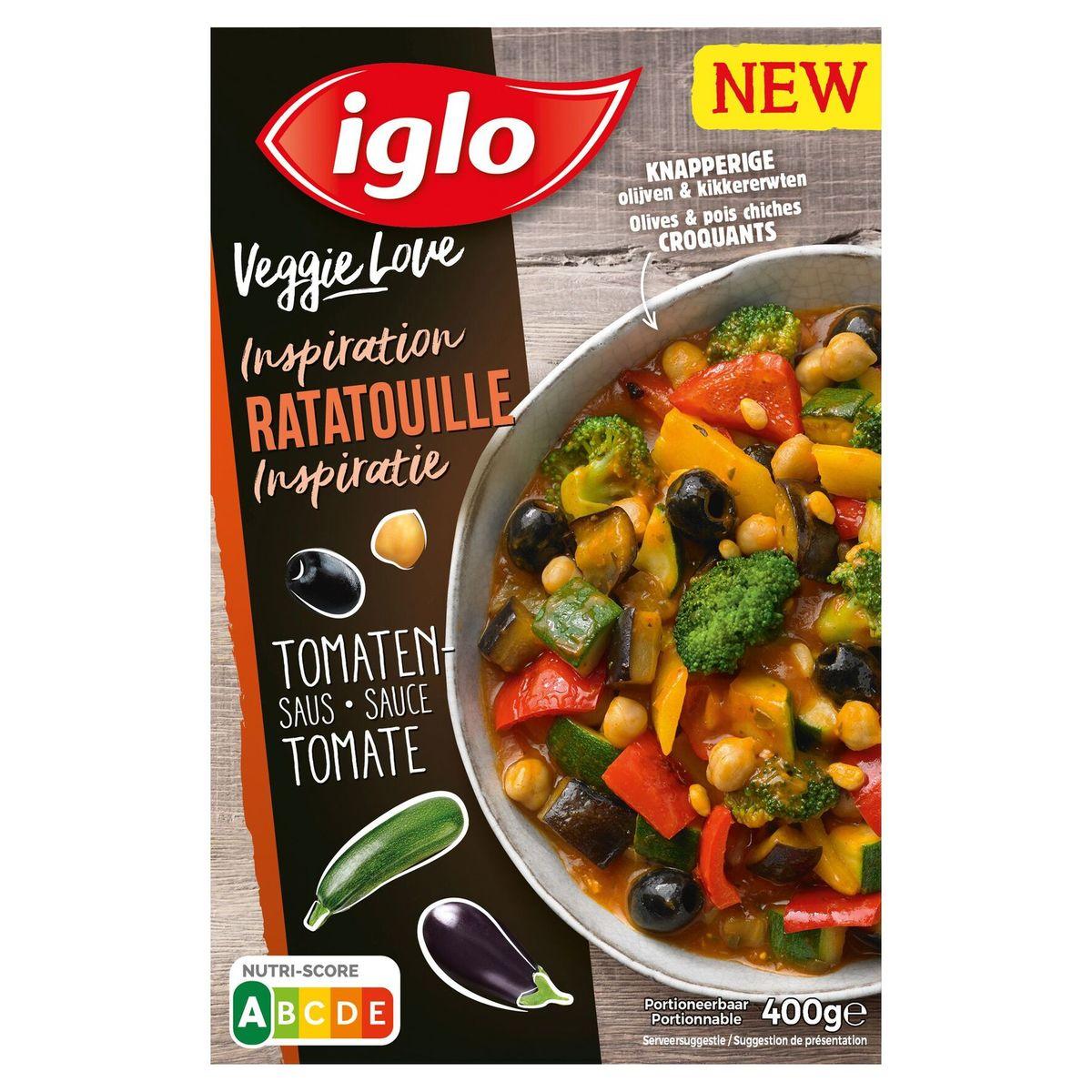 Iglo Veggie love Inspiratie Ratatouille, tomatensaus & olijven 400g