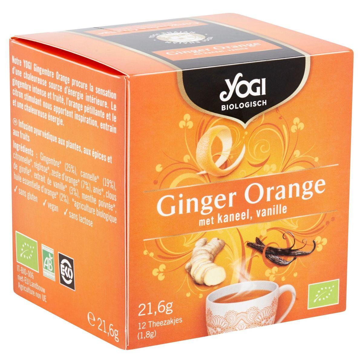 Yogi Biologique Gingembre Orange Cannelle Vanille Sachets 12 x 1.8 g